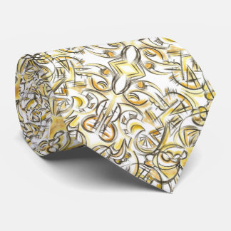 Antiquing-Hand Painted Abstract Print Pattern Tie