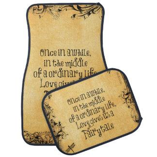 Antiquité de cru de citation d'amour de conte de tapis de voiture
