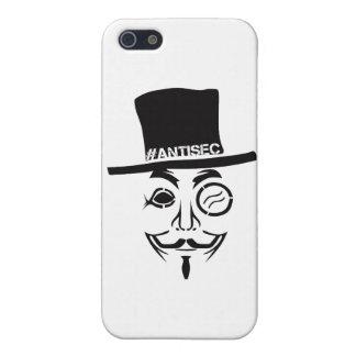 AntiSec AntiSecurity Hacker Logo iPhone 5 Cases