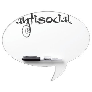 antisocial dry erase board