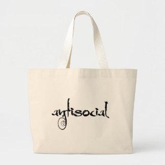 antisocial large tote bag
