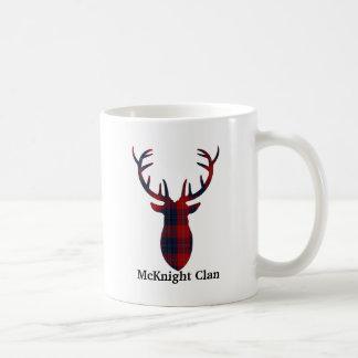 """""""Antlers"""" McKnight Clan Tartan Mug"""