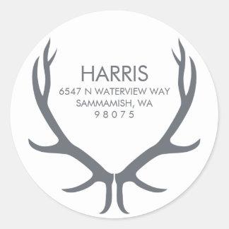 Antlers Return Address Label