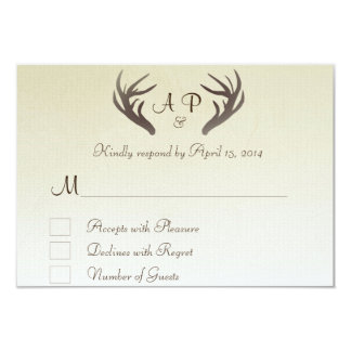 Antlers RSVP Card Ombre beige