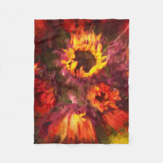 "Antnum Fire Oil Painting  Fleece Blanket 30x40"""