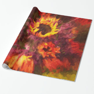 Antnum Fire Oil Painting Glossy Wrapping Paper