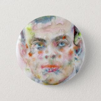 antoine de saint exupery - watercolor portrait 2 inch round button