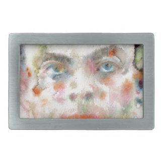 antoine de saint exupery - watercolor portrait belt buckles