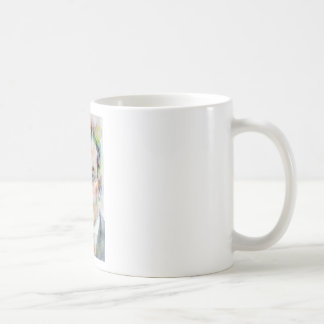 antoine de saint exupery - watercolor portrait coffee mug