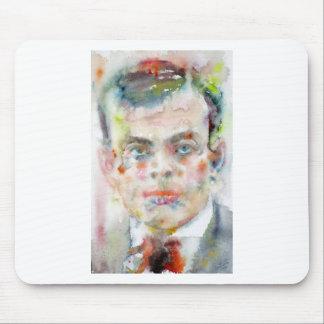 antoine de saint exupery - watercolor portrait mouse pad
