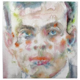 antoine de saint exupery - watercolor portrait napkin