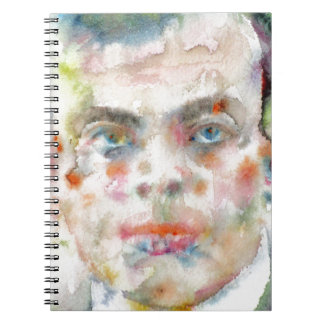 antoine de saint exupery - watercolor portrait notebook