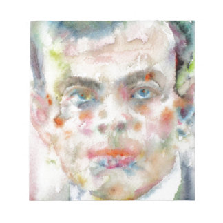 antoine de saint exupery - watercolor portrait notepad