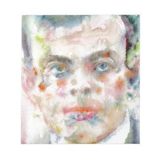 antoine de saint exupery - watercolor portrait notepad