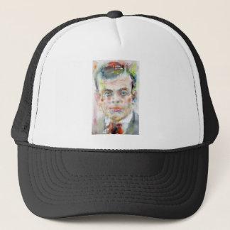 antoine de saint exupery - watercolor portrait trucker hat