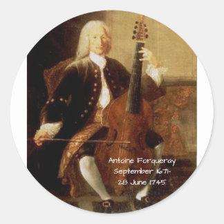 Antoine Forqueray Classic Round Sticker
