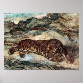 Antoine-Louis Barye Tiger in Repose Poster