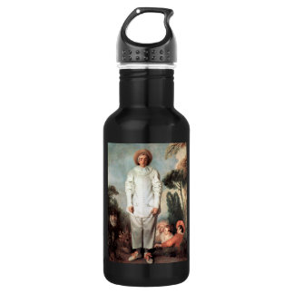 ANTOINE WATTEAU - Pierrot (Gilles) 1718 532 Ml Water Bottle