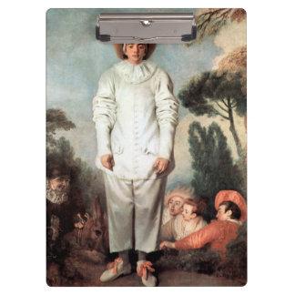 ANTOINE WATTEAU - Pierrot (Gilles) 1718 Clipboard