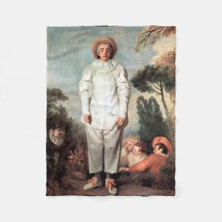 ANTOINE WATTEAU - Pierrot (Gilles) 1718 Fleece Blanket