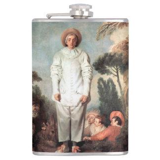 ANTOINE WATTEAU - Pierrot (Gilles) 1718 Hip Flask