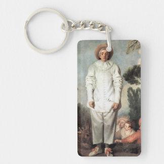 ANTOINE WATTEAU - Pierrot (Gilles) 1718 Keychain