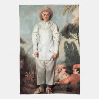 ANTOINE WATTEAU - Pierrot (Gilles) 1718 Kitchen Towel