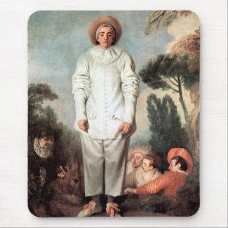 ANTOINE WATTEAU - Pierrot (Gilles) 1718 Mouse Pad