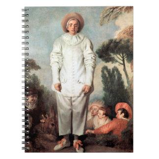 ANTOINE WATTEAU - Pierrot (Gilles) 1718 Notebooks