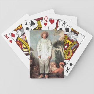 ANTOINE WATTEAU - Pierrot (Gilles) 1718 Playing Cards