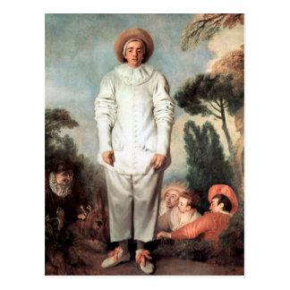 ANTOINE WATTEAU - Pierrot (Gilles) 1718 Postcard