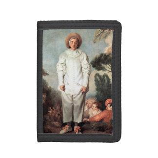 ANTOINE WATTEAU - Pierrot (Gilles) 1718 Trifold Wallets