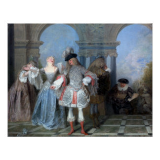 Antoine Watteau The French Comedians Poster