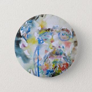 anton chekhov - watercolor portrait.1 2 inch round button