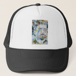 anton chekhov - watercolor portrait.1 trucker hat