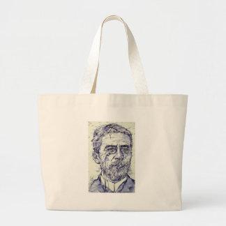 anton chekhov - watercolor portrait.2 large tote bag