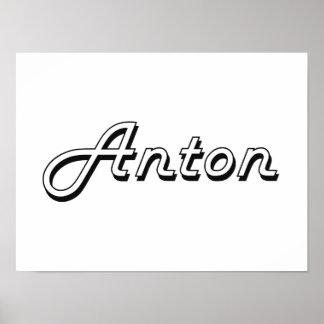 Anton Classic Retro Name Design Poster