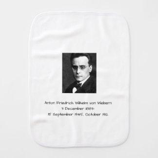 Anton Friedrich Wilhelm von Webern Burp Cloth