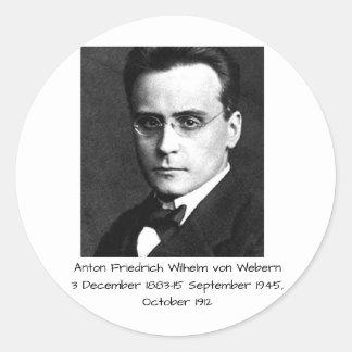 Anton Friedrich Wilhelm von Webern Classic Round Sticker