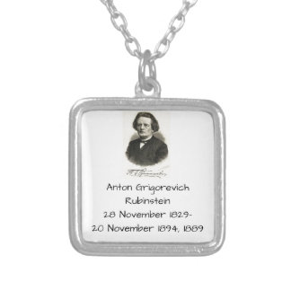 Anton Grigorevich Rubinstein 1889 Silver Plated Necklace