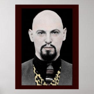 Anton LaVey Portrait Poster 18x24