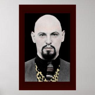 Anton LaVey Portrait Poster BIG 24x36