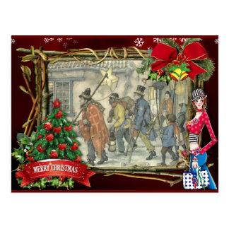 Anton Pieck christmas greetings Postcard
