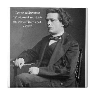Anton Rubinstein c1880 Tile