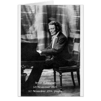 Anton Rubinstein playing Card