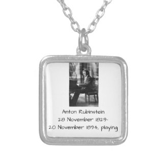 Anton Rubinstein playing Silver Plated Necklace