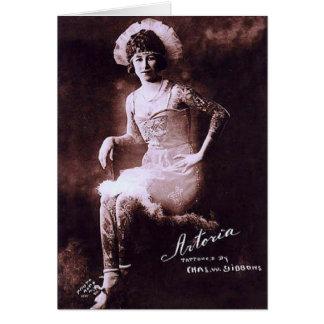 Antonia the Tattooed Lady Card