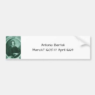 Antonio bertali bumper sticker
