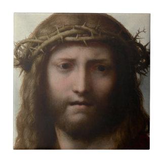 Antonio da Correggio - Head of Christ Tile
