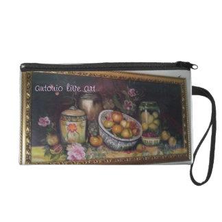 antonio live art wristlet purses